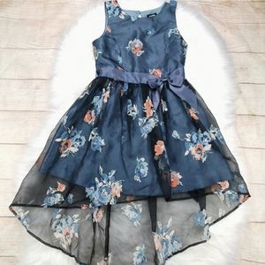 Zunie Girl High-Low Floral Tulle Dress Size 8